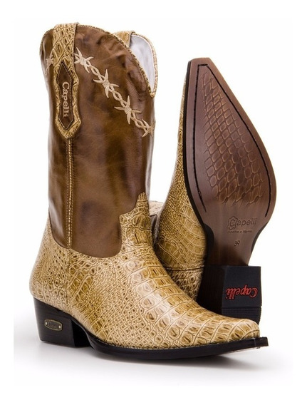 Bota Country Masculina Texana Bico Fino Capelli Boots 7002