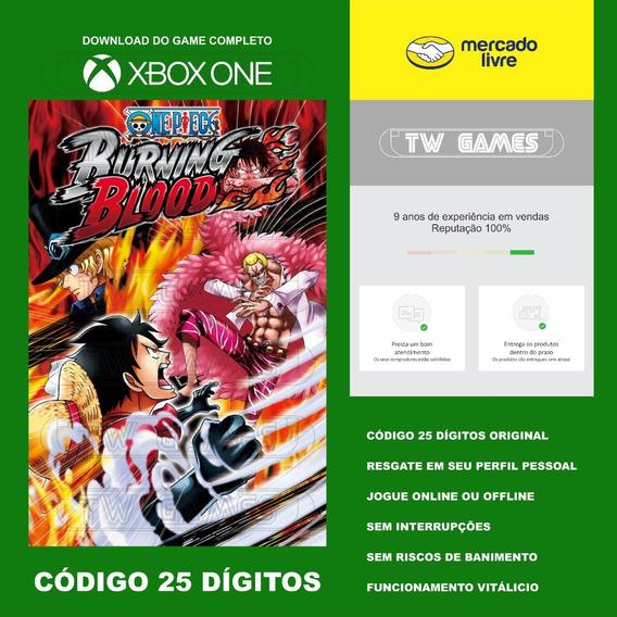 One Piece Burning Blood Codigo 25 Digitos Xbox One Fat S X