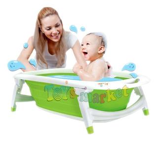 Karibu Bañera Plegable Bebe Bañadera Flexi Bath Termómetro
