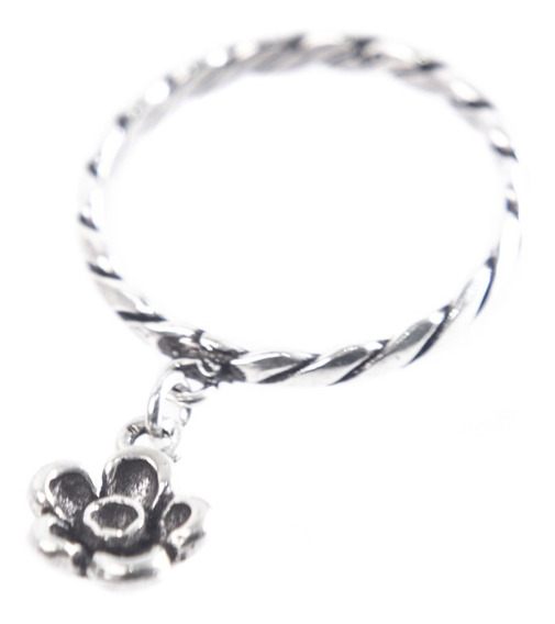 Anel Prata 925 - Trançado - Flor