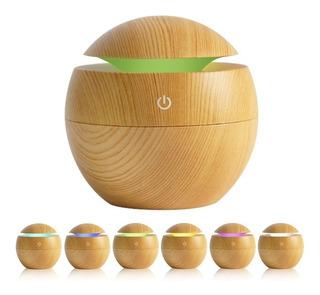 Humidificador Difusor Esfera Madera Bambu + Esencia Palermo
