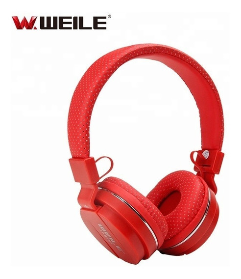 Audifonos Con Microfono Extended Bass Weile Wl-ip8351 Rojo