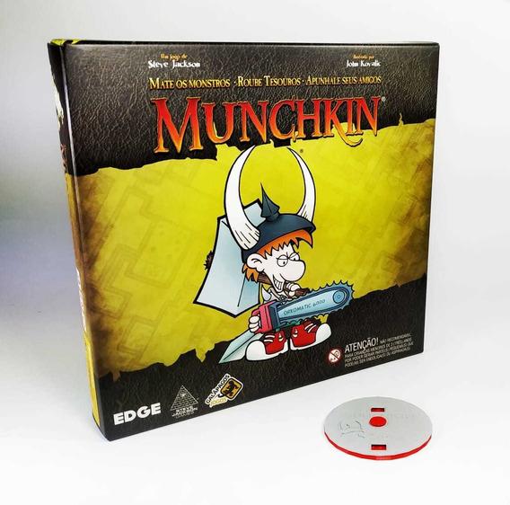Munchkin + Marcador De Vida 3d Jogo De Cartas Galapagos