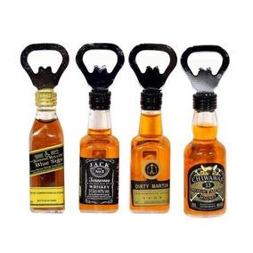 10 Abridor De Garrafa Imã Geladeira Formato Whisky Cerveja