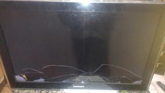 Tv Lcd Samsung 32 Polegadas Com Display Trincado
