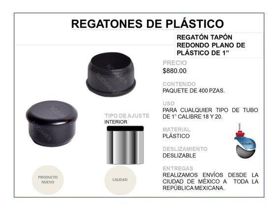 Regatón Tapón Redondo Plano De Plástico De 1 Paq. 400