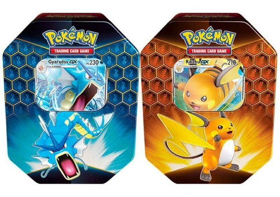 Pokémon Latas Destinos Ocultos - Gyarados Gx + Raichu Gx