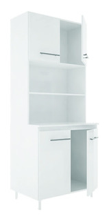 Kit Doble Cocina Multiuso 4 Puertas Wengue Blanco - Blanco