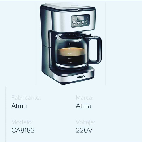 Descripción Ca-8182e Cafetera 1.8l Atma Cafetera. Modelo Ca