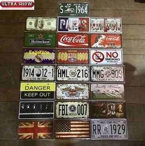 3x Placa Decorativa Import Metal 30x15 Vintage Beatles Carro