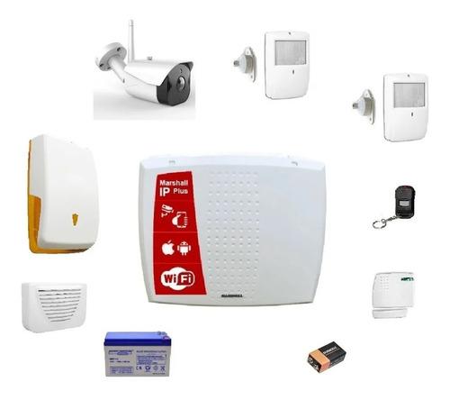 Kit Alarma Marshall Ip Inalambrica + Camara Full Hd Wifi