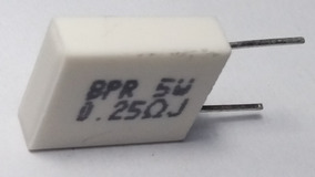 Resistor De Porcelana 5 W 0,25 R 5% Bpr56 - 10 Pçs