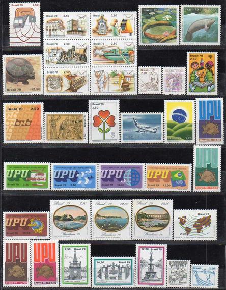 Brasil 1979/80/81. Pequeño Lote Con 87 Sellos Y 7 Bloques