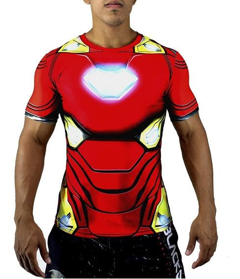 Camisa Homem De Ferro Avengers Feminina/masculina Fitness 3d