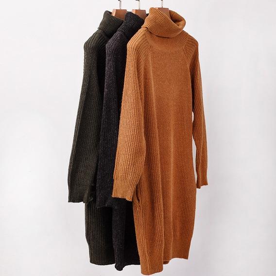 Las Mujeres Suéter De Color Sólido Cuello Alto Raglán Man