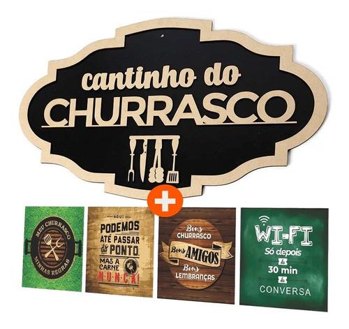 Imagem 1 de 3 de Placa Decorativo Cantinho Do Churrasco
