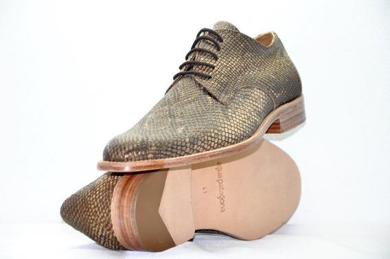 Zapato Vestir Hombre 100% Cuero Suela Reptil Zapateria Risso