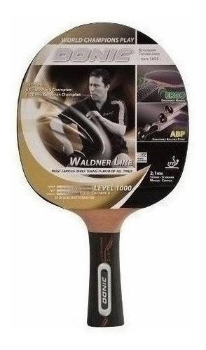 Paleta Ping Pong Donic Waldner 1000 Profesional + Dvd Cuotas
