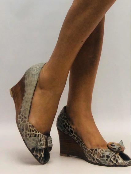 Zapatos Mujer 40 Meena By Perugia Cuero Vaca Animal Print
