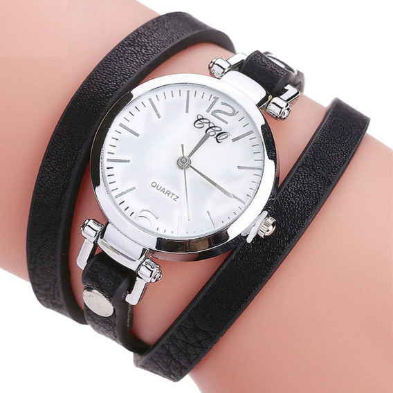 Relógio Feminino Pulseira De Couro Fashion Promoção Barato