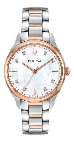 Relógio Feminino Bulova Classic Sutton Quartz Aço 98p183