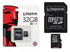 Cartão De Memória 32gb Classe10 Micro Sd 80mb/s Kingston!!!