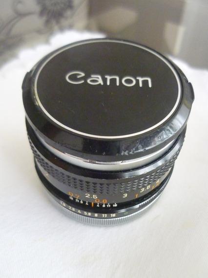 Lente Canon 50mm 1:1.8