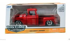 Chevy Pick Up Stepside 1955 Vermelha 1:24 Jada