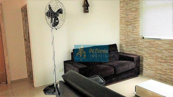 Apartamento Com 2 Dormitórios, Sacada, Churrasqueira, 1 Vaga, À Venda, 60 M² Por R$ 250.000 - Canto Do Forte - Praia Grande/sp - Tr2f58a - Ap0106