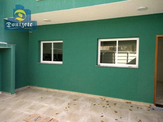 Sobrado Com 3 Dormitórios À Venda, 126 M² Por R$ 560.000,00 - Campestre - Santo André/sp - So0403