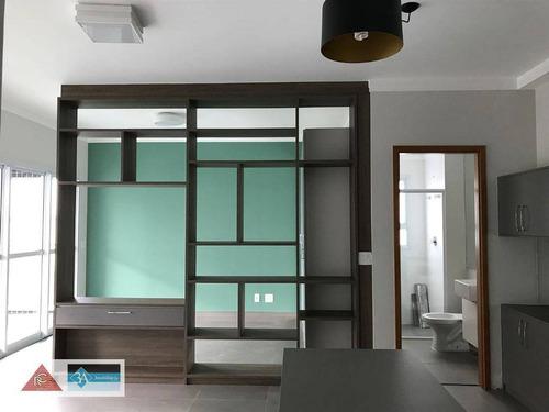 Imagem 1 de 23 de Apartamento Com 1 Dormitório À Venda, 55 M² Por R$ 620.000,00 - Jardim Anália Franco - São Paulo/sp - Ap6156