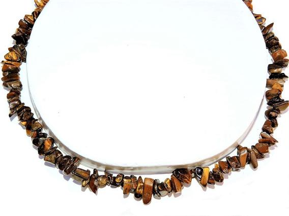 Collar Piedra : Original Ojo De Tigre Natural