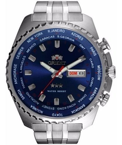 Relógio Orient Masculino Automático 469ss057 D1sx Azul Aço