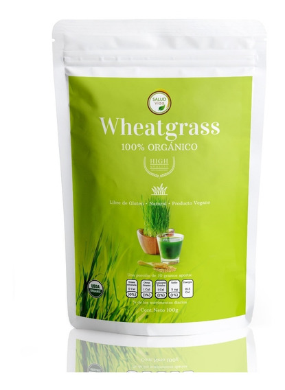 Wheatgrass Premium 100g Orgánico En Polvo