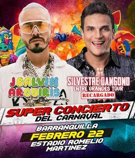 Boleta Super Concierto De Carnaval 22 De Febrero - B/quilla