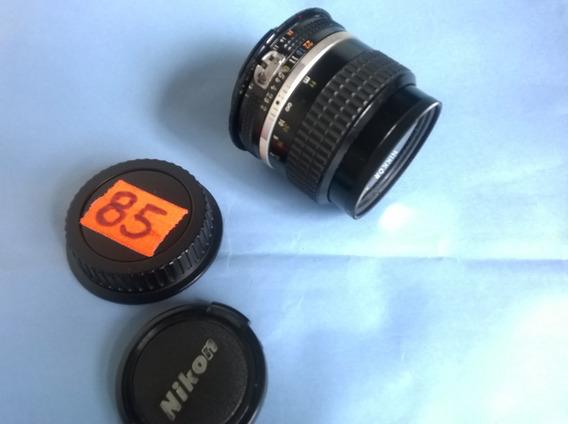 Lente Nikon 85mm F2 ,analógica Série Ais , Em Ótimo Estado.
