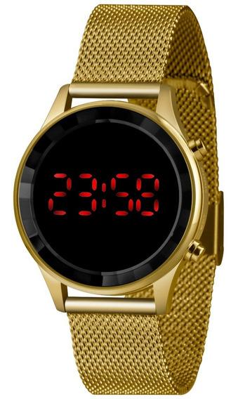 Relógio Lince Feminino Ldg4647l Led Digital Pulseira Em Mesh