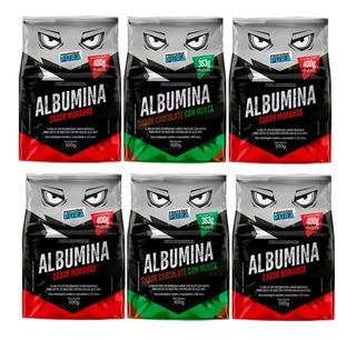6x Albumina Proteína Da Clara Do Ovo 500g - Proteina Pura