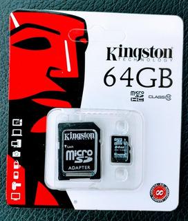 Cartão De Memória Kingston Micro Sd 64 Gb