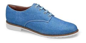 Sapato Feminino Flamarian Oxford Jeans 201283-6 Je