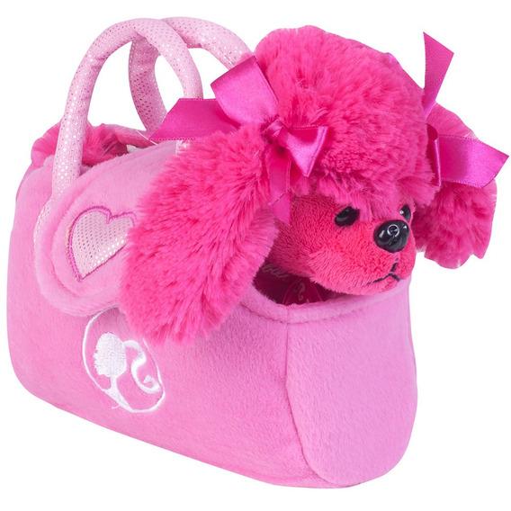 Cachorrinho Da Barbie Rosa Menina Pelucia Com Bolsinha