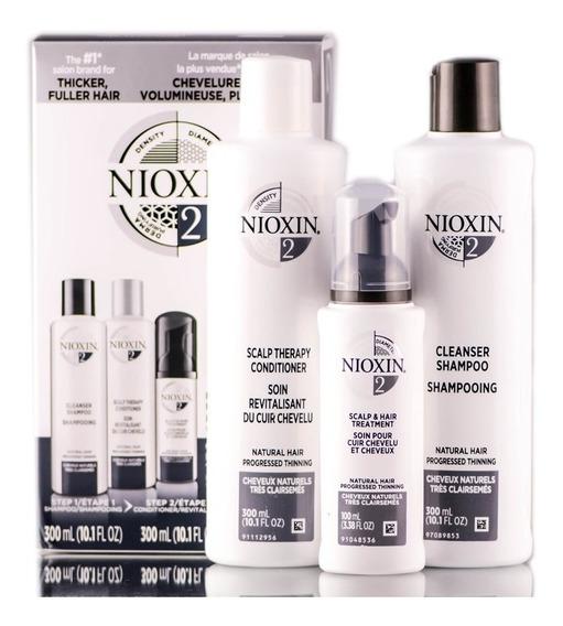 Nioxin Kit Nº2 - Sh 300ml + Cond 300ml + Leave In 100ml