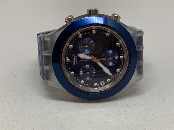 Relógio Swatch Diaphane Azul/original (c/bateria(f)