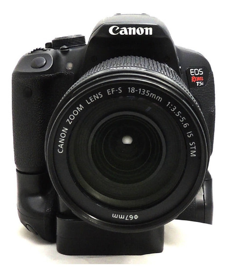 Câmera Canon T5i Com Lente 18-135mm Is Stm E Grip Usada