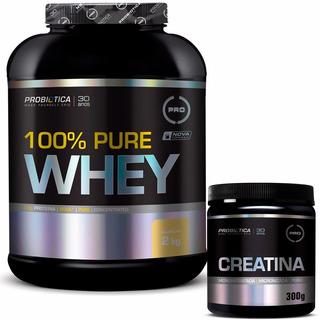 100% Pure Whey 2kg + Creatina 300g - Probiótica