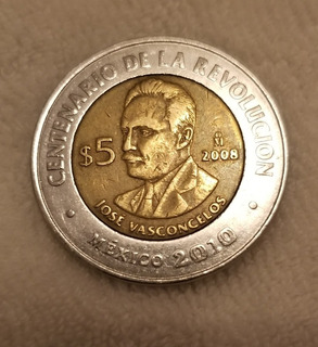 Moneda Conmemorativa 5 Pesos Centenario De La Revolución