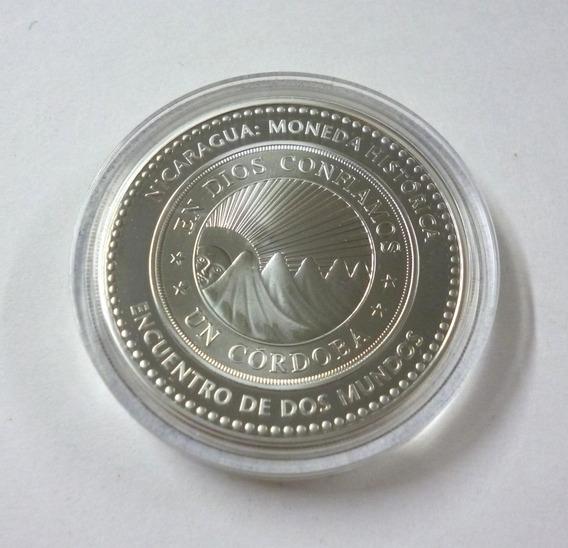 Nicaragua Año 2010 Moneda De Plata 10 Cordobas Serie Ibero