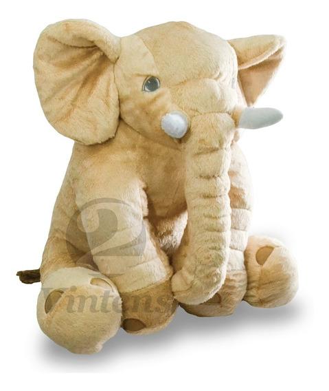 Almofada Baby Elefante Pelúcia Color - Pronta Entrega