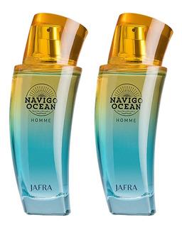 2 Agua De Tocador Navîgo Ocean Homme Jafra P/ Caballero Jfr