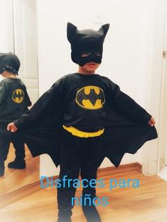 Disfraces Superhéroes Para Niños:batman, Spiderman, Superman